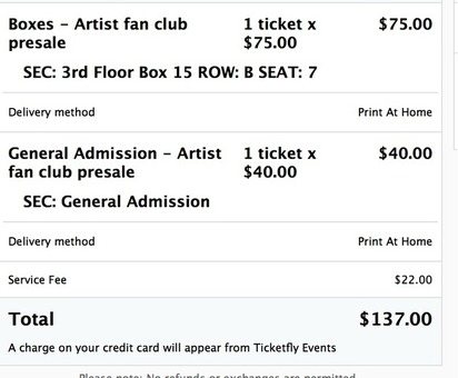 Two Tickets to the Shins Concert