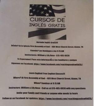 FREE ENGLISH CLASSES-CLASES DE INGLES GRATIS!!!