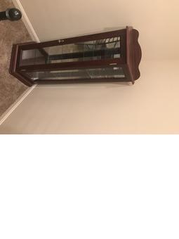 Cherry Wood Curio Cabinet