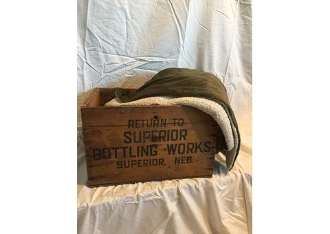 Superior Bottle Works wooden crate